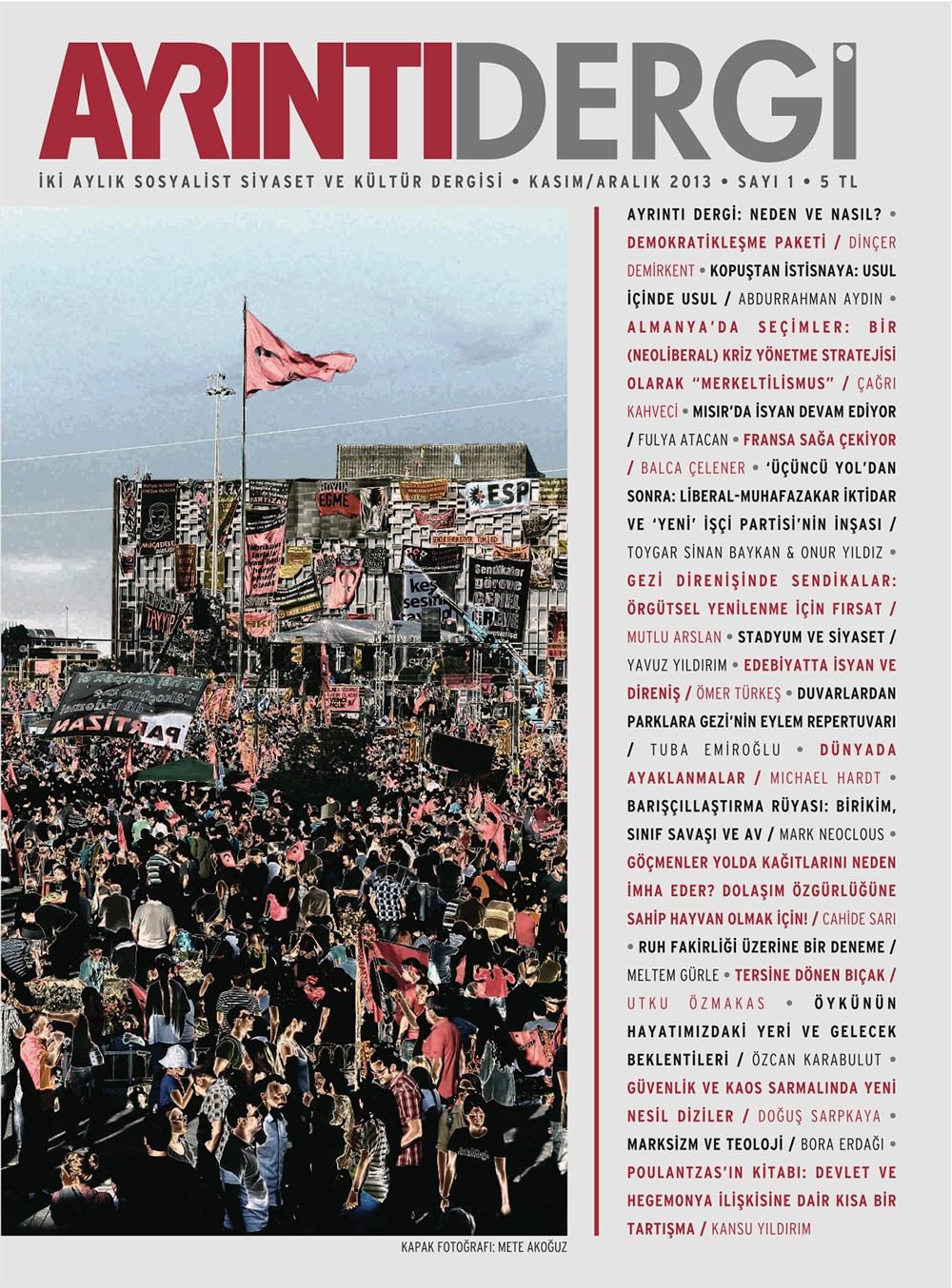 Ayrıntı Dergi Sayı 1 (Kasım-Aralık 2013)