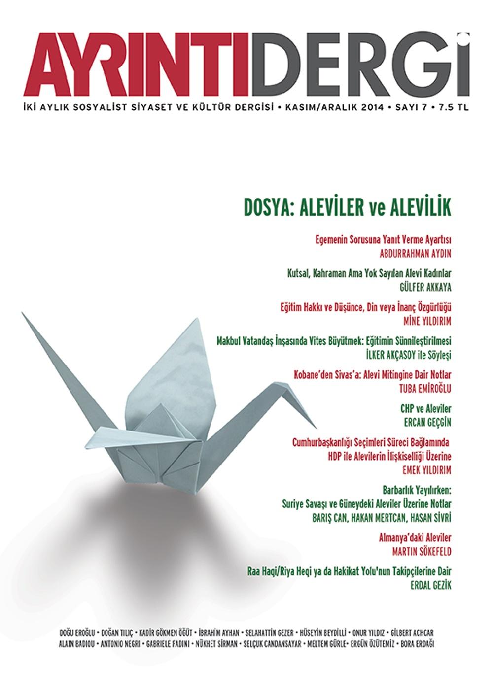Ayrıntı Dergi Sayı 7 (Kasım-Aralık 2014)